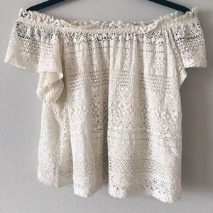 Topshop lace off the shoulder!